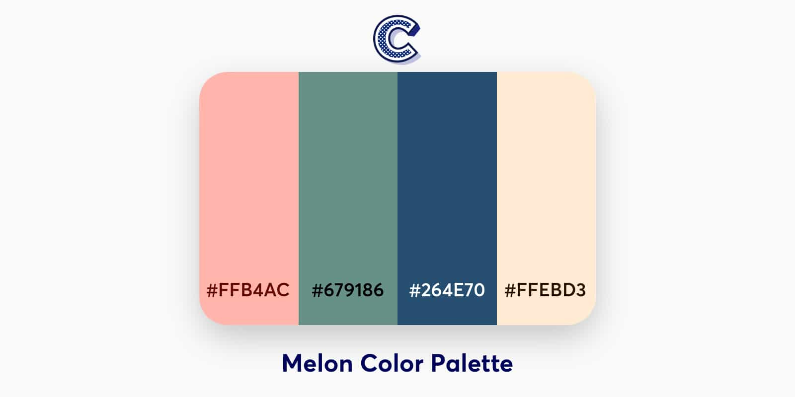 the featured image of melon color palette