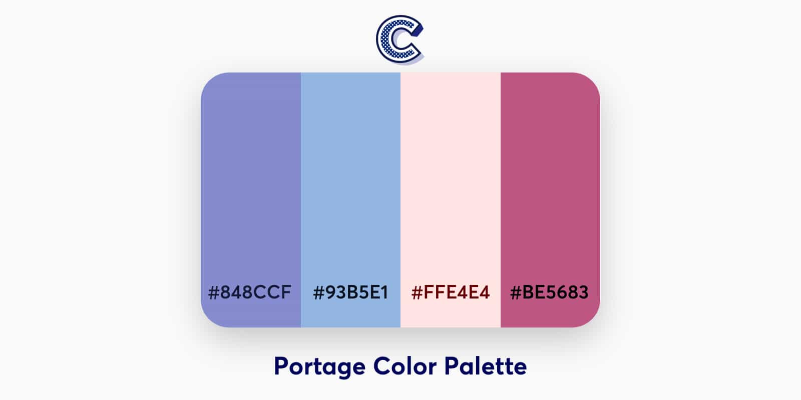 the featured image of portage color palette